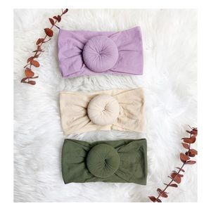 Other - Brand new set of 3 baby girl turban knit headbands